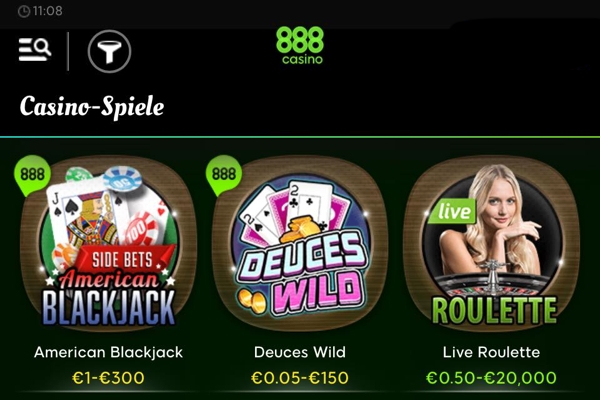 888 Tablet & Handy Casino