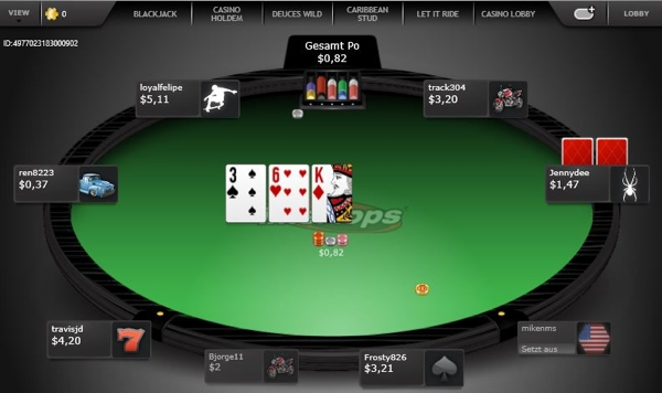 Intertops Online Pokertisch